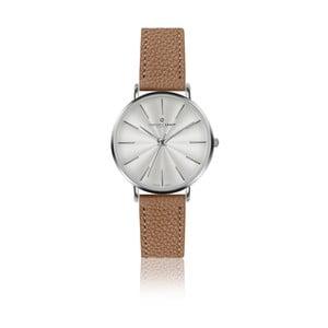 Dámské hodinky s páskem v koňakově hnědé barvě z pravé kůže Frederic Graff Silver Monte Rosa Lychee Cognac
