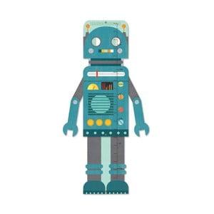Dětský nástěnný metr Petit collage Blue Robot