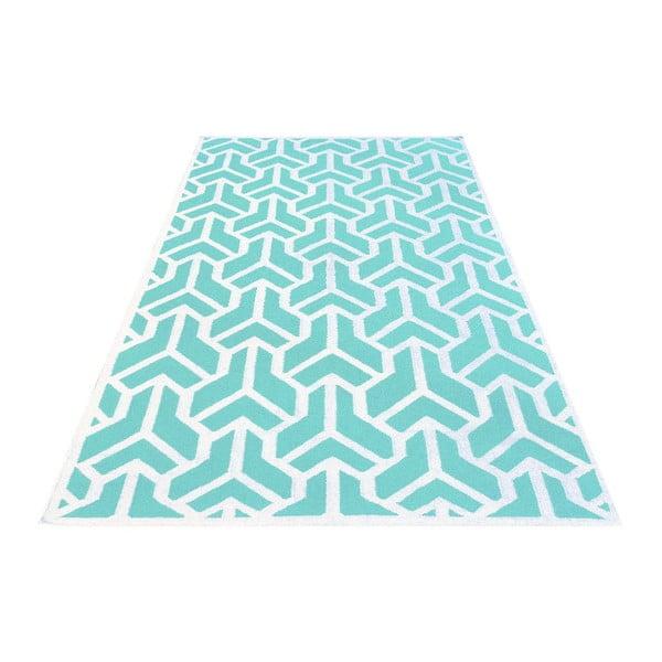 Vlněný koberec Kilim no. 170, 160x240 cm, modrý