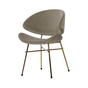 Béžová židle nohami ve zlaté barvě Iker Cheri