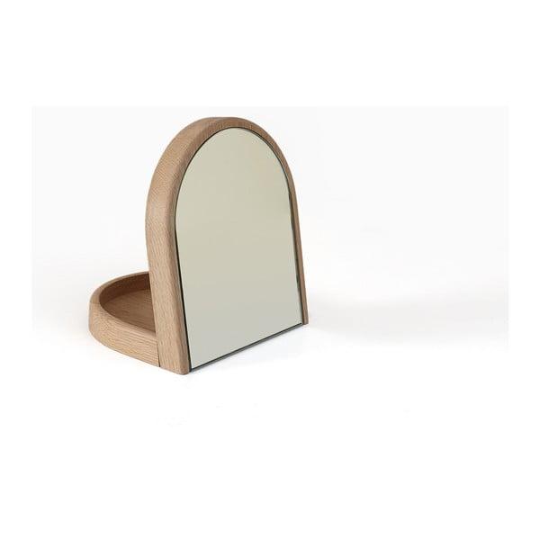 Sklápěcí kosmetické zrcátko z dubového dřeva HARTÔ