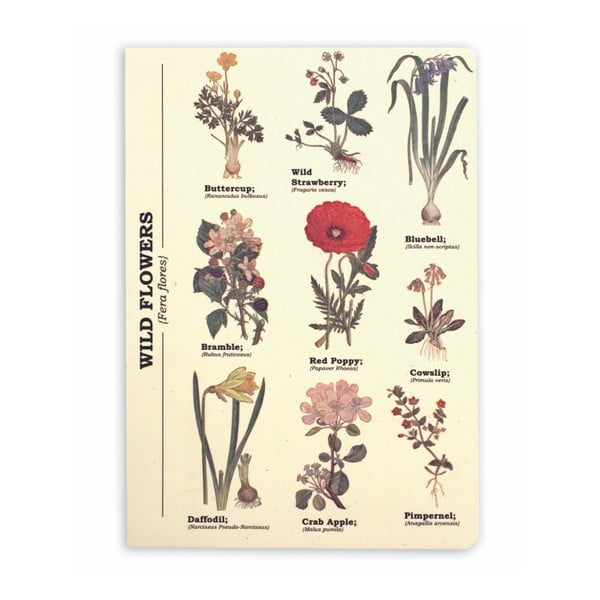Wild Flowers jegyzetfüzet, A5 - Gift Republic