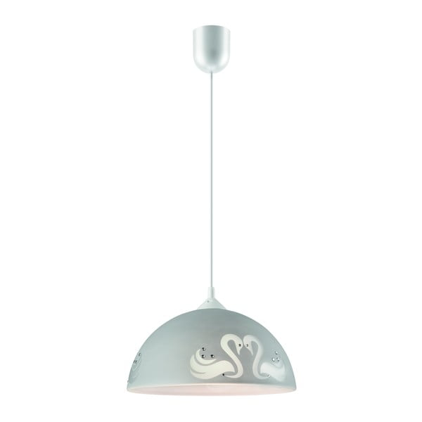 Szara lampa wisząca Lamkur Swan