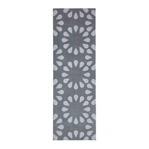Bloom szürke konyhai futószőnyeg, 50 x 150 cm - Zala Living