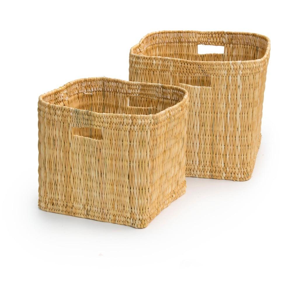 Sada 2 ručně vyrobených úložných košíků Surdic Cestos Palmito