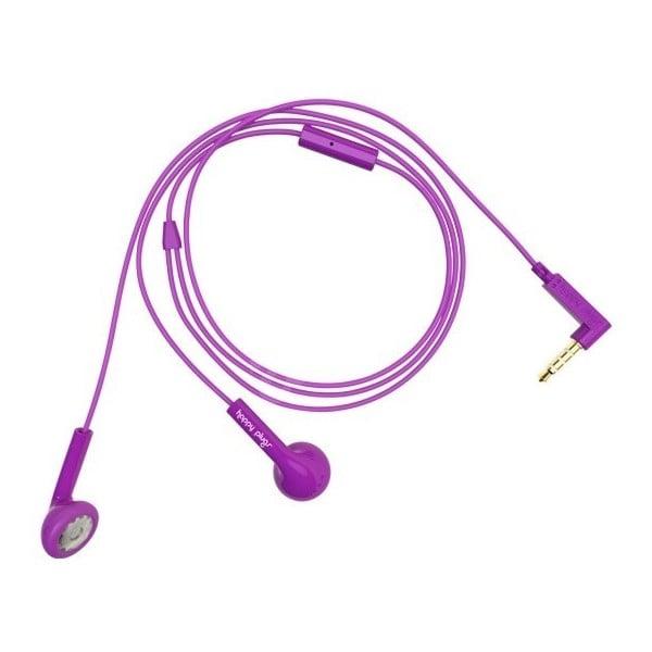 Sluchátka Happy Plugs, fialová
