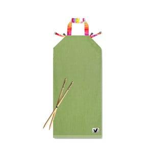 Zelené plážové lehátko Origama Aqua