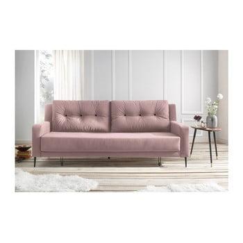 Canapea extensibilă Bobochic Bergen roz