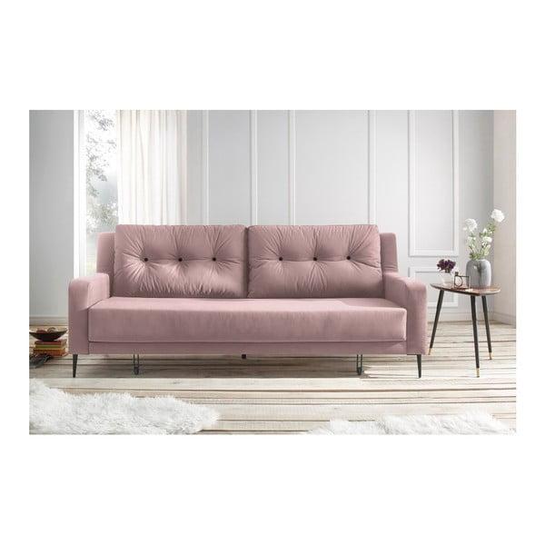 Bergen rózsaszín kinyitható kanapé - Bobochic Paris