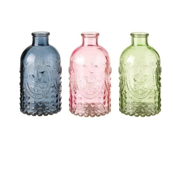 Zestaw 3 szklanych wazonów Unimasa Luciana