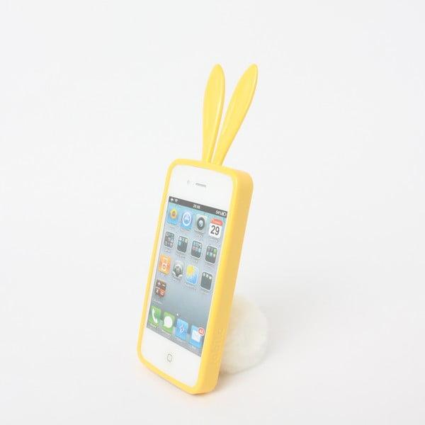 Rabito obal na iPhone4/4S Bling Bling, žlutý