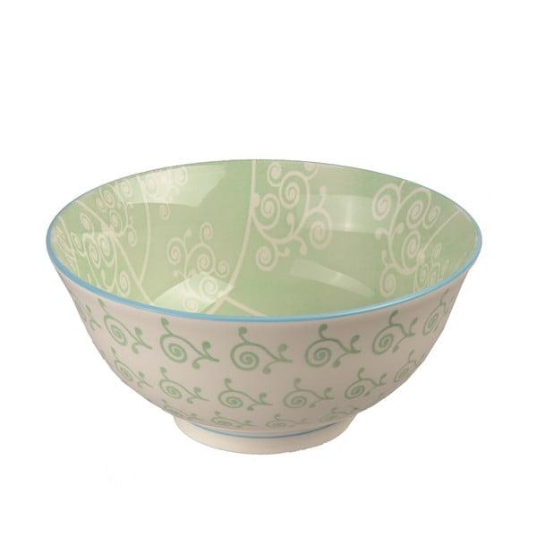 Porcelánová miska Animal Colored Green Flowers, 15.5 cm