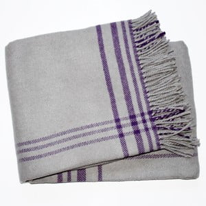 Deka Elva Grey Purple, 140x180 cm
