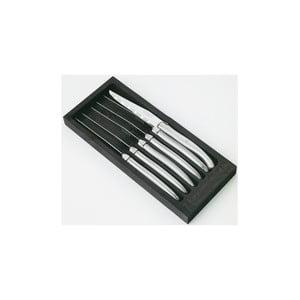 Set 6 cuțite pentru friptură în cutie din lemn Jean Dubost