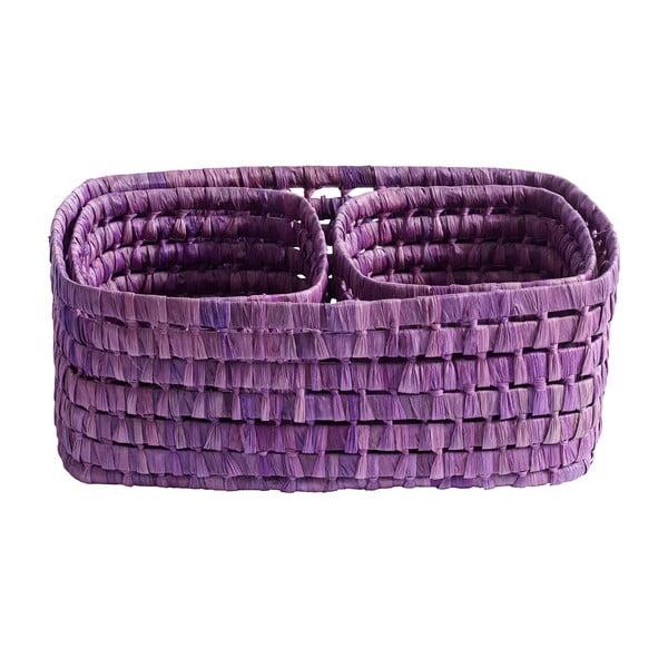 Košíky, 3ks, fialové