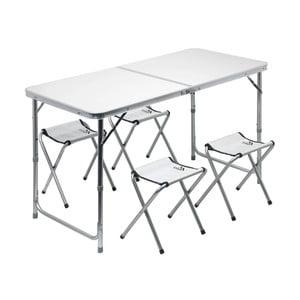 Set kempingového skládacího stolu a 4 židliček Cattara Double