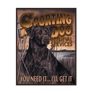 Plechová cedule Sporting Dog
