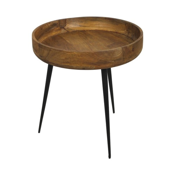 Příruční stolek z mangového dřeva HSM collection Ventura, ⌀ 40 cm