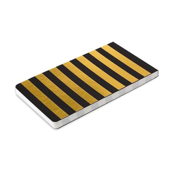 Poznámkový blok v černé a zlaté barvě GO Stationery Bee