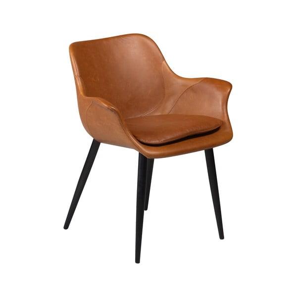 Brązowe krzesło z podłokietnikami DAN–FORM Combino