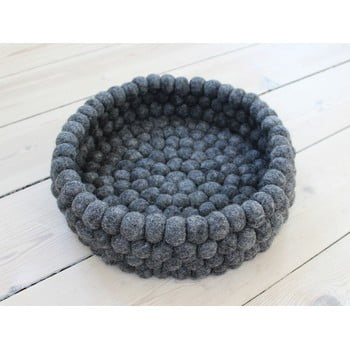 Coș depozitare cu bile din lână Wooldot Ball Basket, ⌀ 28 cm, antracit imagine