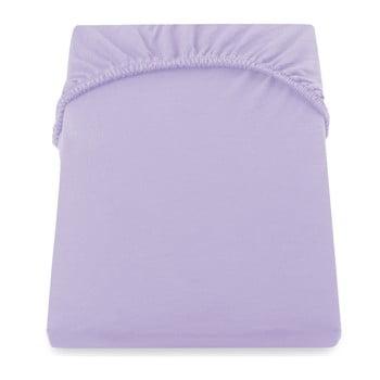 Cearșaf de pat DecoKing Amber Collection, 160-180 x 200 cm, violet imagine