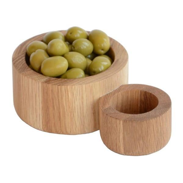Miska na olivy z dubového dřeva Wireworks Olive