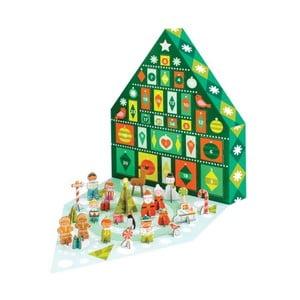 Adventní kalendář s 24 skládacími figurkami Petit collage Tree