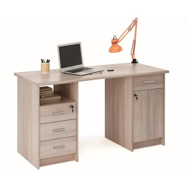 Pracovní stůl v dekoru světlého dubového dřeva 13Casa Monaco