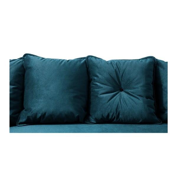 Modrá rozkládací pohovka s lenoškou Bobochic Paris Hera, pravý roh