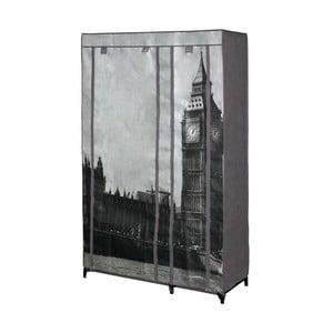 Šedá textilní skříň na oblečení Jocca London, 160x105cm