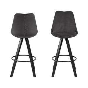 Sada 2 tmavě šedých barových židlí Actona Dima Bar