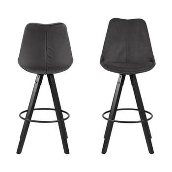 Set 2 scaune bar Actona Dima Bar, gri închis title=Set 2 scaune bar Actona Dima Bar, gri închis