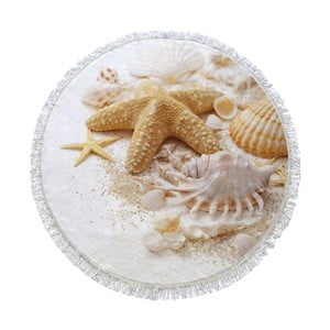 Kulatá plážová osuška Homemania Australia Shels, Ø 150 cm
