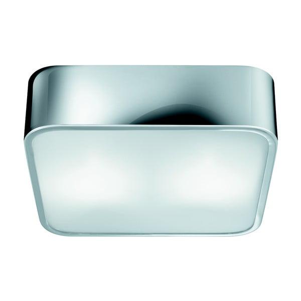 Stropní svítidlo Searchlight Flush, 25 cm, stříbrná
