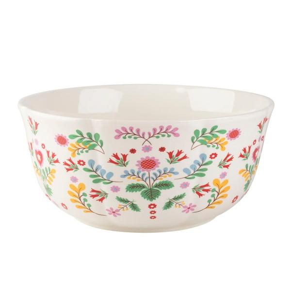Porcelánová mísa s květinovým motivem Creative Tops, ⌀25 cm