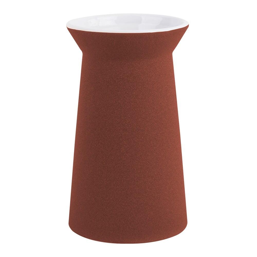 Hnědá keramická váza PT LIVING Cast, výška24cm