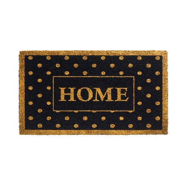Zlatočerná rohožka Hamat Home Dots, 40x70cm