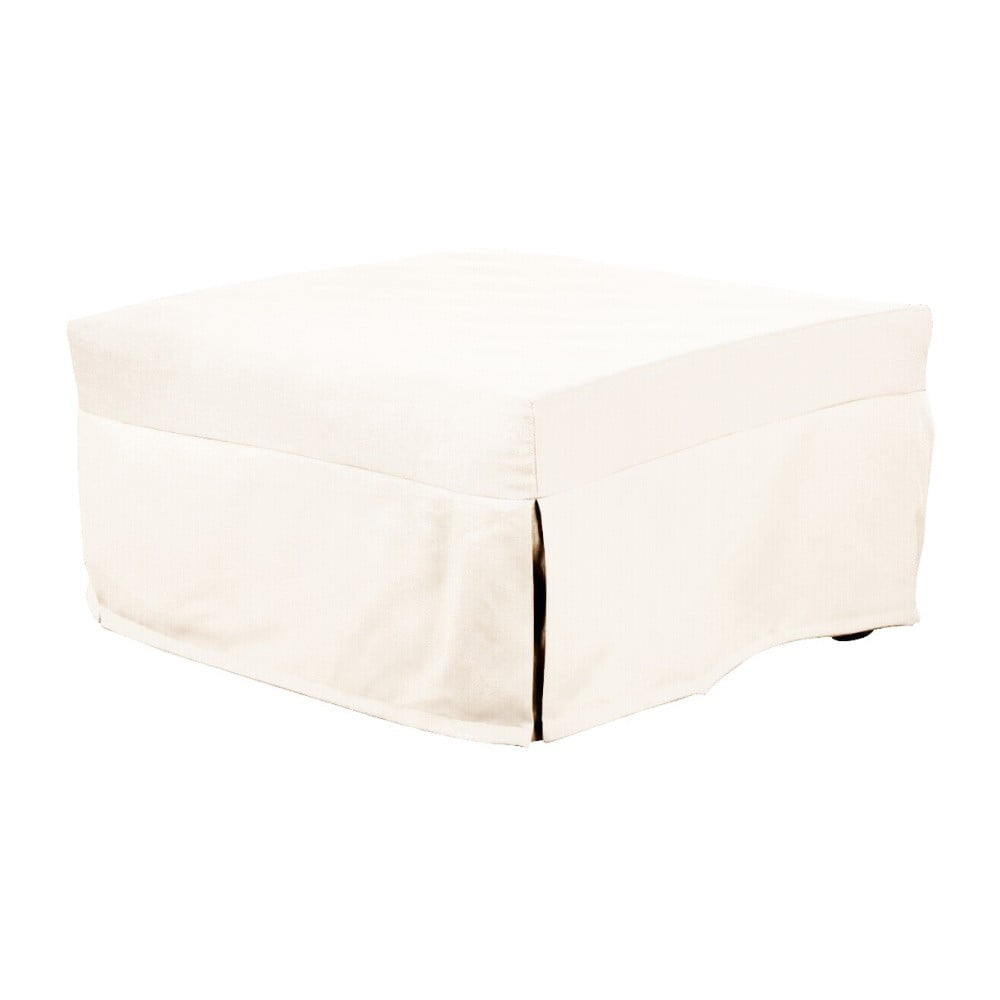 Bílý rozkládací puf/lůžko 13Casa Evelin