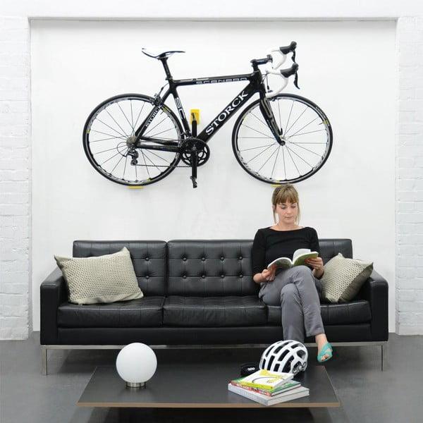 Nástěnný stojan na kolo Cycloc Hero, žlutý