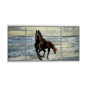 3dílný obraz Asymetric Horse, 80x40 cm