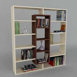 Knihovna Ample Maple/Wenge, 22x125x135,7 cm