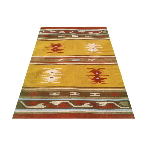 Vlněný koberec Kilim No. 127, 120x180 cm