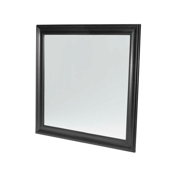 Černé nástěnné zrcadlo Furnhouse Mirroring,113x113cm