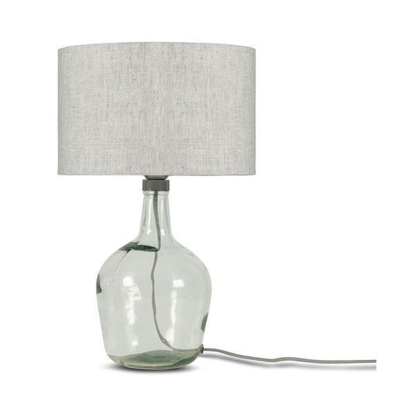 Stolní lampa se světle béžovým stínidlem a konstrukcí z recyklovaného skla Good&Mojo Murano, ⌀30cm