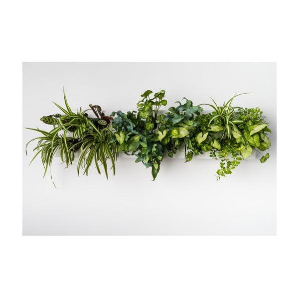 Vertikální květináč HOH! s neviditelným stojanem Trio Smart Bianco, 83x38 cm