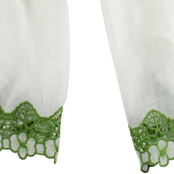 Šátek s příměsí hedvábí Shirin Sehan Florentine Lime