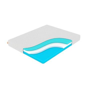 Saltea din spumă cu memorie, fermitate medie-rigidă Enzio Wave Transform, 160 x 200 cm, înălțime 22 cm