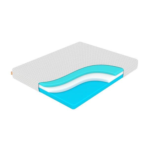 Średnio twardy materac z pianką pamięci Enzio Wave Transform, 180x200 cm, wys. 22 cm