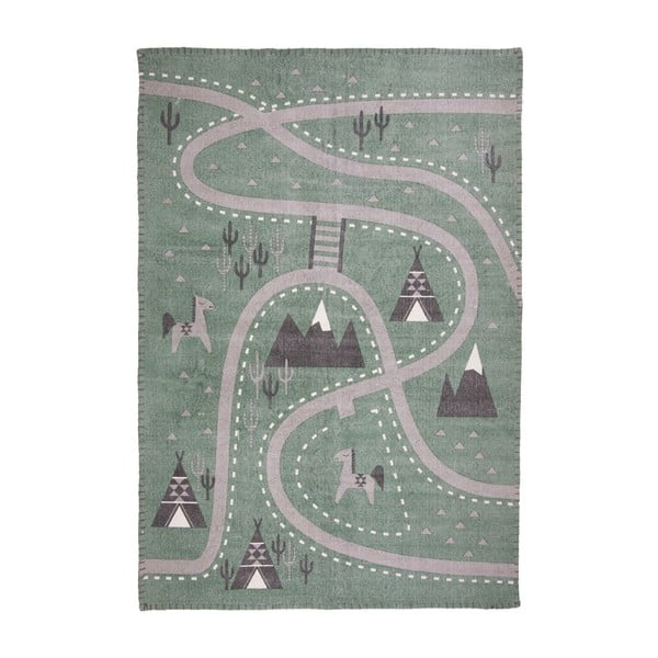 Detský ručne potlačený koberec Nattiot Little Western, 100×140cm